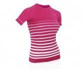 T-Shirt Ultralight 70 Damen pink/white stripes