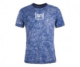 T-Shirt Waterfront Printed Herren blue melange/sketch cloud print