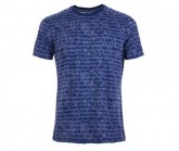 T-Shirt Waterfront Printed Herren stone blue/sketch stirpe print
