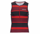 Triathlon Performance Tri Tank Herren race day red stripe