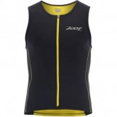 Triathlon Shirt Performance FZ Tri Tank Herren black/pure yellow